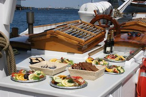 food-on-board-the-schooner-mira-on-deck